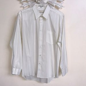 John Henry Off White/Light Ivory Dress Shirt 17